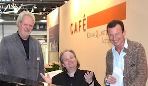 Kristian Ehlers (AudioPool, Berlin), Stephan Winkelhake und Frank Suchland