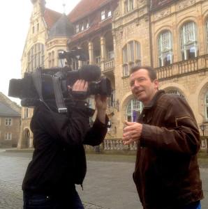 """Dreh mit dem NDR in Bückeburg für die Sendung """"Mein Nachmittag"""""""